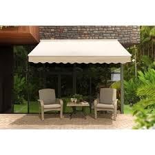 Aleko Awning Reviews Mcombo 10x8ft Retractable Patio Deck Awning Sunshade Brown Free
