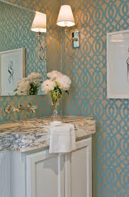 Water Works Faucets Contemporary Bathroom Wallpaper Powder Room Transitional With