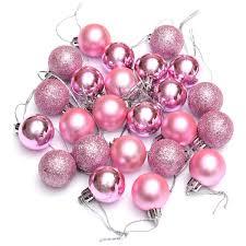 24pcs chic baubles tree plain glitter ornament