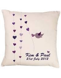 Wedding Gift Shop Bird U0026 Hearts Cushion Purple Gift Shop Personalised Gift Shop