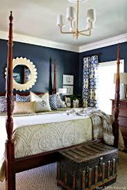 Simple Master Bedroom Ideas 2013 Striking Deep Blue Walls In This Master Bedroom Also Love The