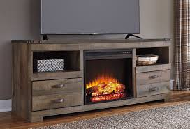 trinell large tv stand w fireplace tv stands and tv consoles