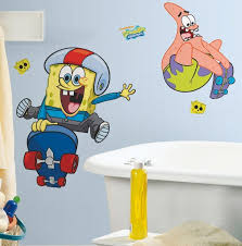 Kids Bathroom Sets Bathroom Spongebob And Patrick Wall Decals In Charming And