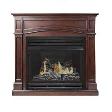 amazon com pleasant hearth vent free dual fuel fireplace 45 inch