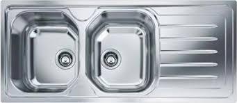 lavello cucina franke franke lavello cucina incasso 2 vasche con gocciolatoio dx