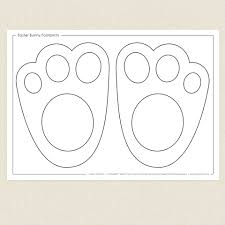easter bunny footprints activity sheet cleverpatch