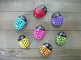 Painted Rocks For Garden ladybug painted garden stones free shipping garden decor