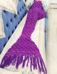 sale xuanlan handmade knitted crochet mermaid blanket scale