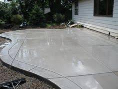 Concrete Patio Designs Sted Concrete Patio Looks Like Large Pavers Home