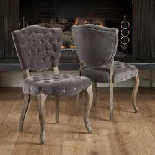 Tufted Dining Chair Chair Foxhunter New Linen Scoop Details Grey Tufted Dining