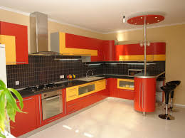 orange kitchen ideas kitchen two toned kitchen wall cabinet ideas with orange and