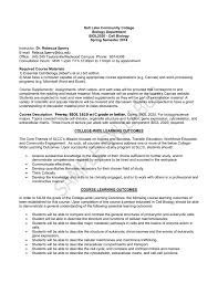 biol 2020 sample syllabus salt lake community college
