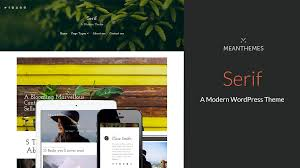 serif a modern wordpress blog theme themes u0026 templates