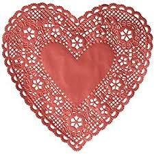 school smart heart shaped paper lace doilies 4 inch