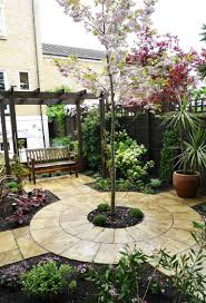 small yard landscaping design quiet corner