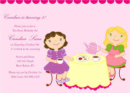 girls tea party invitation tea party pinterest invitations