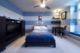 bedroom appealing simple bedroom blue colour striped blue white