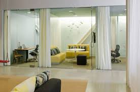 Boora Architects Refreshing Yellow Decor Inside The Office With Yellow Sofa In Cool