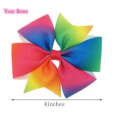 boutique bows your bows 4inch rainbow grosgrain pinwheel hair bows diy ribbon