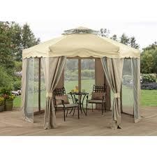 Outdoor Gazebo Curtains by Curtains Gazebo Sun Shelter Sojag Montrose Hard Top Gazebos