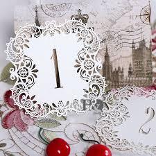 Vintage Wedding Centerpieces Aliexpress Com Buy 10pcs Set Ivory Hollow Lace Table Number