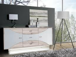Wohnzimmer Kommode Sideboard Kommode Sandeiche Weiß Hochglanz Inkl Beleuchtung Neu
