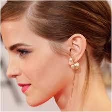 sided stud earrings gold pearl gold sided stud earrings 1 2 x 1 4 w from