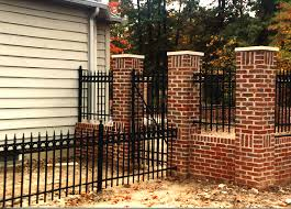 wrought iron picket fence with circles finials by elyria fence