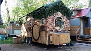 this is the hobbit house at the wee casa tiny house resort in