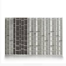 White Melamine Bookcase by Modular Bookcase Contemporary Lacquered Mdf Random By