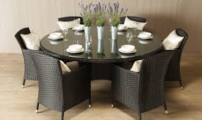 Round Dining Sets For 8 Chair 8 Seater Round Wooden Garden Table And Chairs