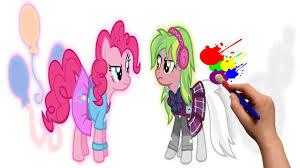 my little pony pinkie pie vs lemon zest mlp coloring book