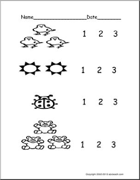 count groups of objects 1 3 ver 2 pre k primary worksheet
