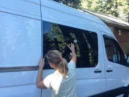 details of my installation of windows in my diy sprinter campervan
