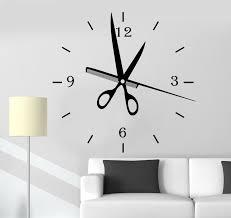 Vinyl Wall Decals by Vinyl Wall Decal Hair Salon Clock Art Decoration Barbershop
