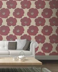 Best Papel Mural Vinilos Images On Pinterest Home Ideas - Poppy wallpaper home interior