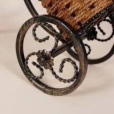 wine bottle holder rattan tricycle upscale vintage wine rack