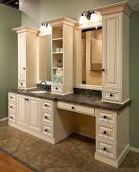 Antique White Vanity Kitchen Solutions Classy Closets