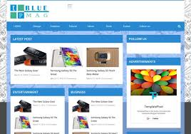 tp blue mag responsive blogger template 2014 free blogger templates