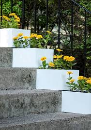 How To Build Vertical Garden - a simple vertical garden how to diy stair step planters martha