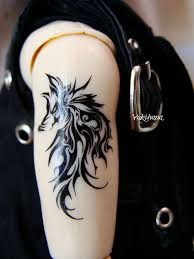 tribal white wolf