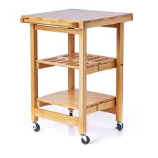 folding island the entertainer kitchen trolley with butchers block