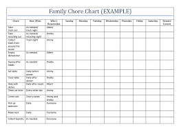 Chore Sheet Template 10 Best Images Of Household Chore Chart Template Printable