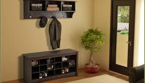 Narrow Entryway Cabinet Bench Attractive Small Entryway Bench With Shoe Storage