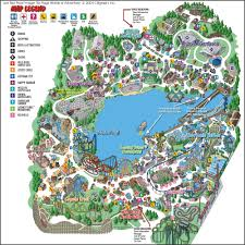 Great America Park Map by Theme Park Brochures Six Flags Great America Theme Park Brochures