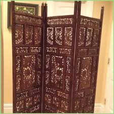 dressing screens room dividers comfortable antique hand carved