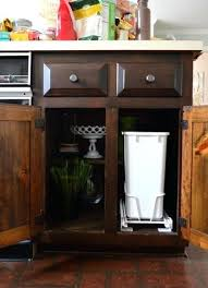 pull out trash can for 12 inch cabinet installing a pull out trash can young house love next to the pull