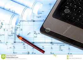 construction industry architecture rolls architectural plans royalty free stock photo