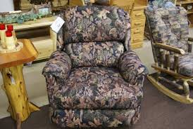 camo home decor recliner camo north woods rustic furniture for all of your home