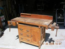 found an old woodworking bench international association of